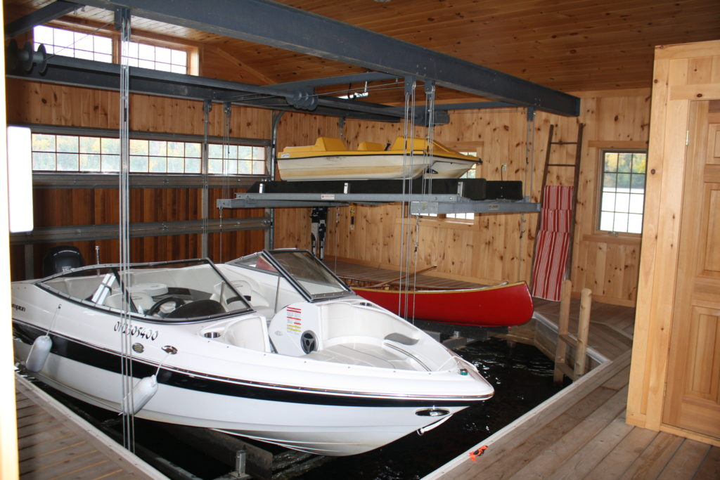 Wet Slip Boat Lifts Overhead Boat Lift Systems R Amp J