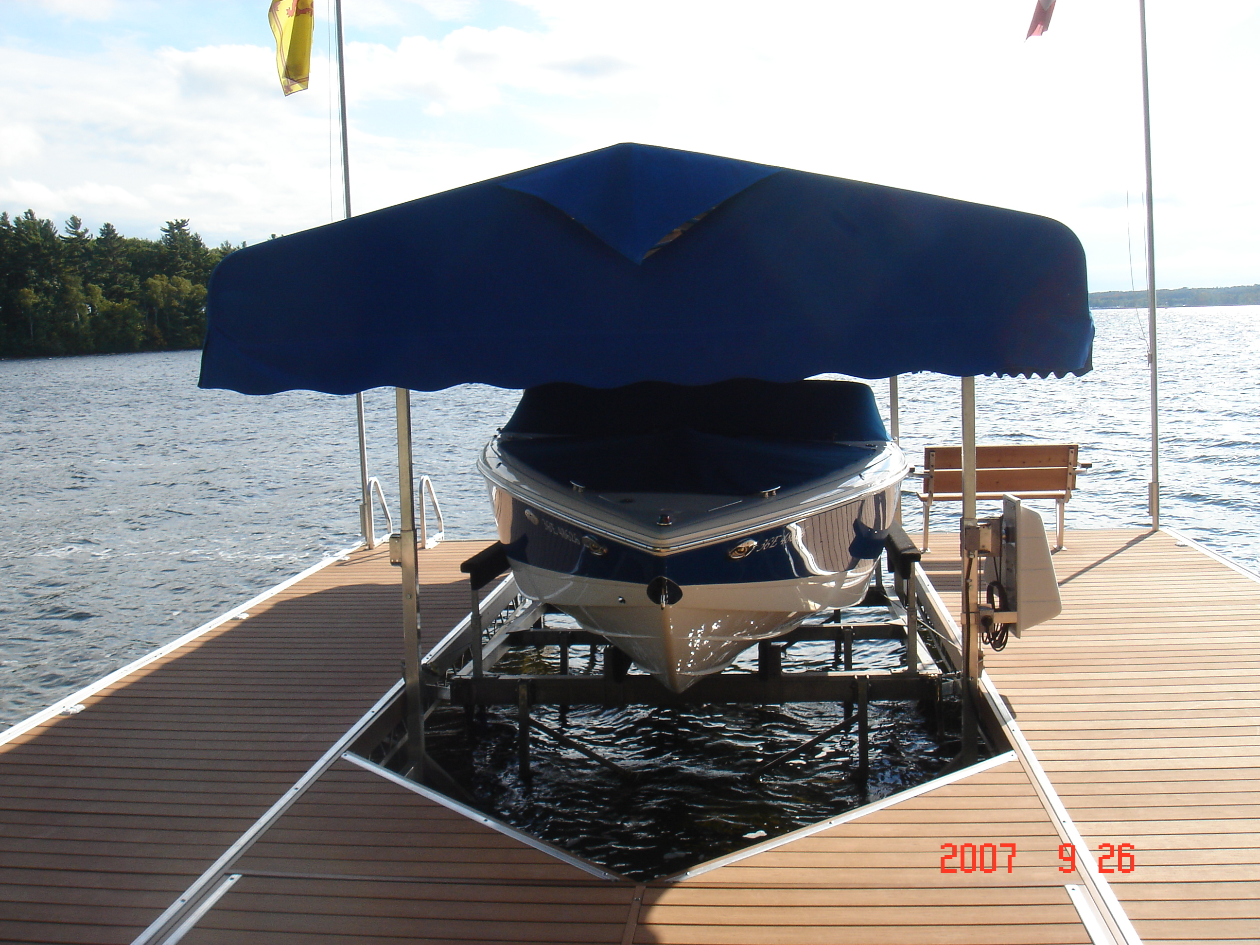 Boat Lift And Dock >> Roof Systems for Boats & Sea-Doos – R & J Machine