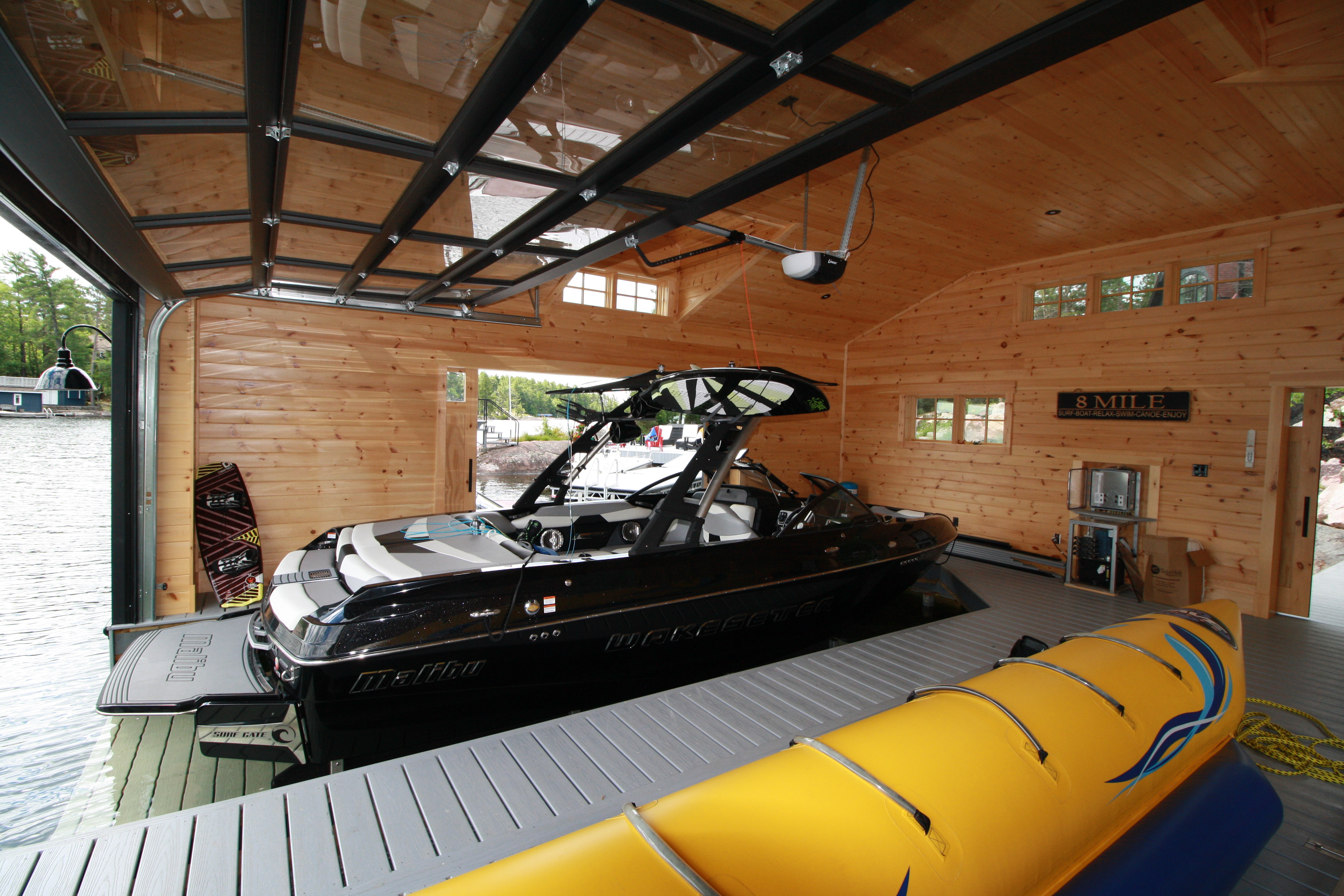 Hidden Beam Wet Slip Lifts | Custom Boat Lifts – R & J Machine