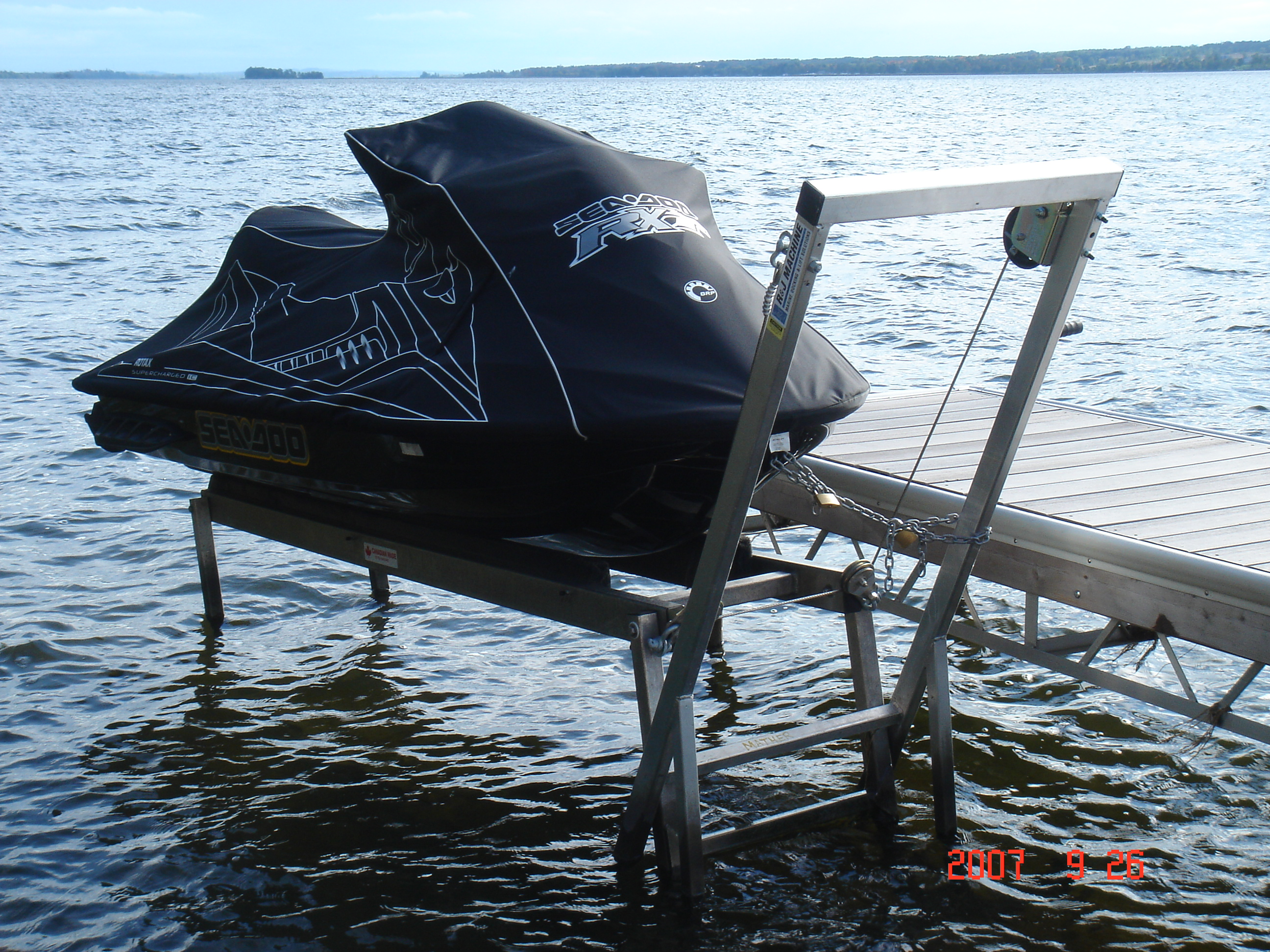 Boat Lifts Made In Lakefield Ontario R Amp J Machine