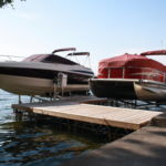 Vertical Pontoon Lift and Cantilever Boat Lift for Bowrider