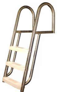 15 DEGREE INCLINE 3-TREAD DOCK LADDER/LOGO