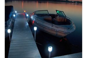 R&J Machine Dock Edge LED Solar Dock Post Lights 2 pack