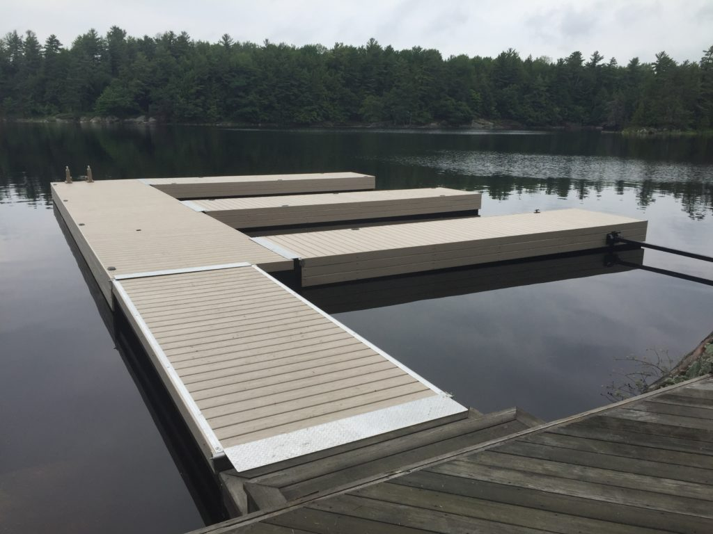 Steel Tube Floating Docks are available with Cedar, Pt , or a maintenance PVC Decking.