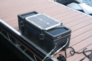 Solar panel on dock