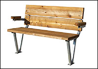 R&J Machine Aluminum deck dock bench with Cedar