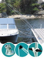 Dock Edge Mooring Whips for docking boats