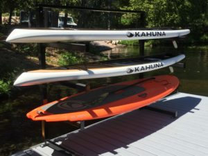 Adjustable Kayak or Stand Up Paddle Board available for three of 4 units, aluminum or black finish