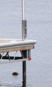 R&J Machine - Dock Aluminum Flagpole Bracket side view