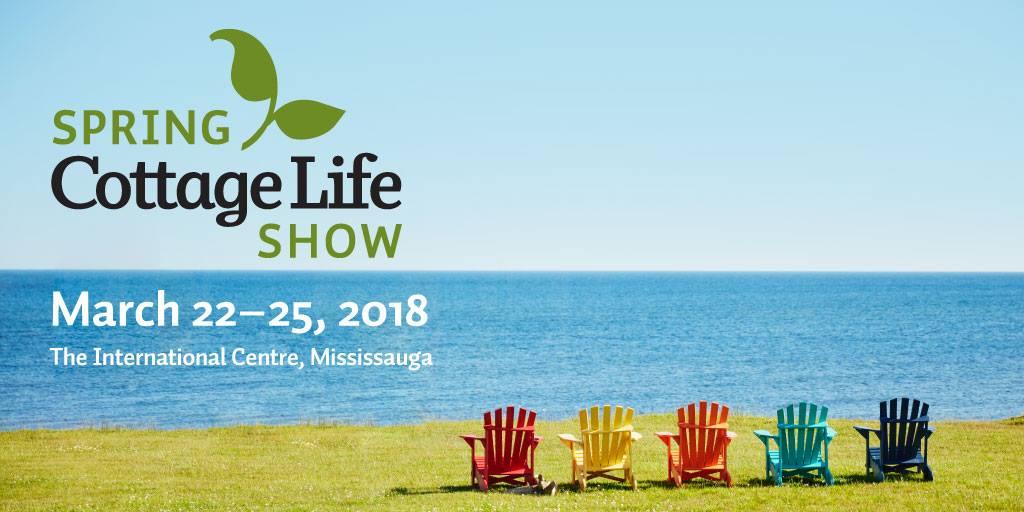 cottage life show 2018 R&J Machine docks boatlifts