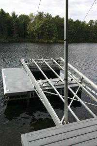Floating Dock - with Lift Up Tapered Ramp