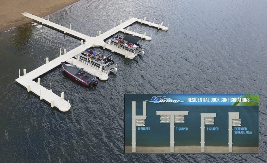 Wave Armour Wave Dock Floating Dock System Configurations