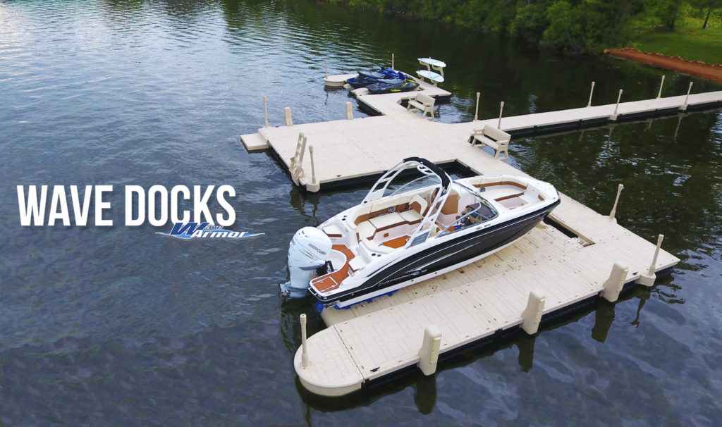 Wave Armour Wave Dock Floating Dock System Configuration 2