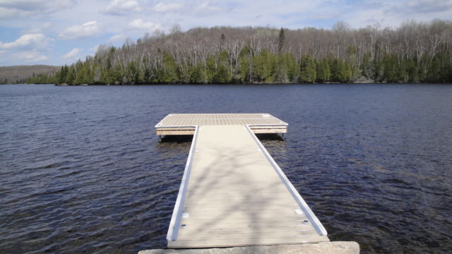 Permanent Steel Dock with Pro Decking