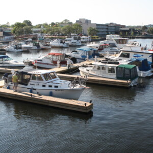 Boaters enjoying completed Peterborough Marina