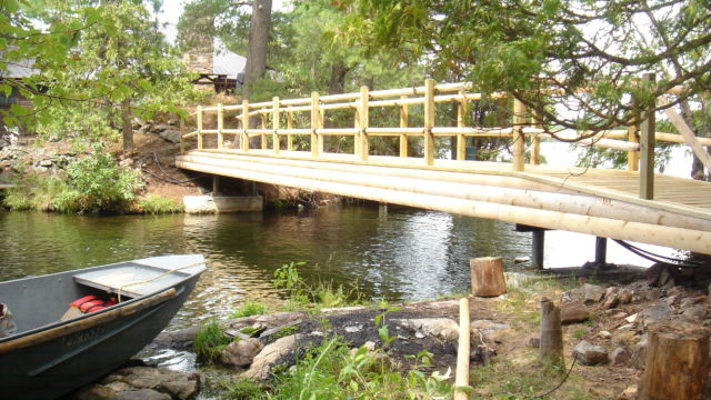 Steel Bridge with wooden covering