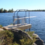 Custom diving board structure