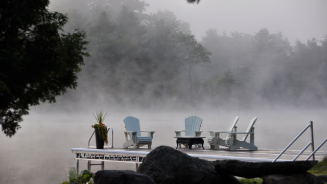 Customer Supplied Image - Morning Mist on their R&J Dock