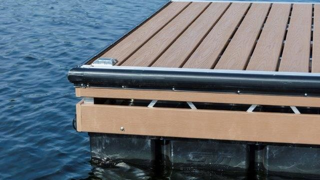 Aluminum Truss Floating Dock with double fascia board