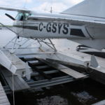 Hidden beam lift for float plane
