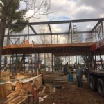 Provided custom steel work for housing contractor