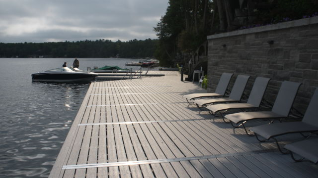 Boathouse, Docks and Lifts- rocky shoreline transformation
