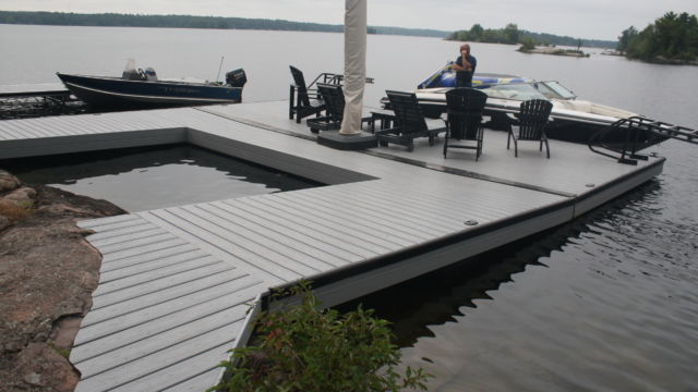 Profiled Shoreline to ramp and floating dock system