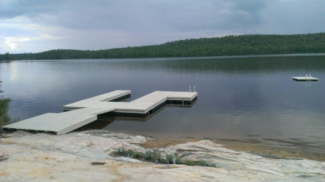 Floating Dock with Permanent Shore Section