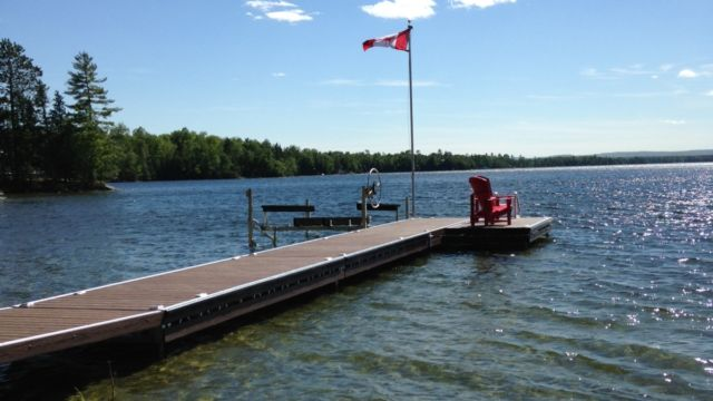 pipe dock with boatlift