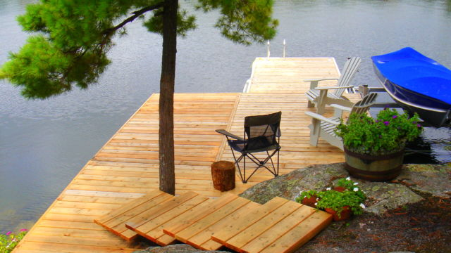 Pipe Docks and custom Shoreline section with Stairs