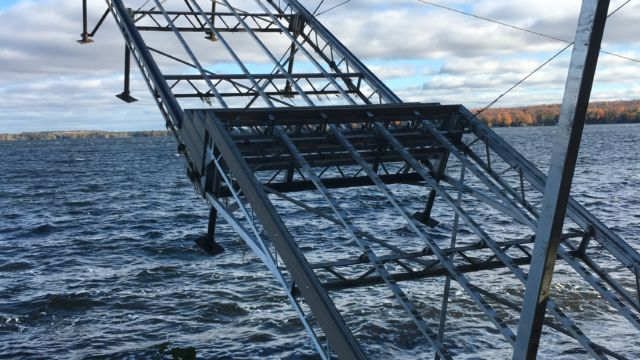 Lift Up Step Dock raised for Winter