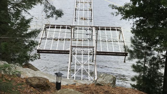 Lift Up Step Dock with Side Platform sections