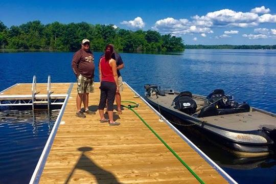 Lift Up Dock at Otter Gas & Marine