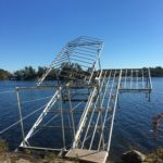lift up dock and boat lift with roof