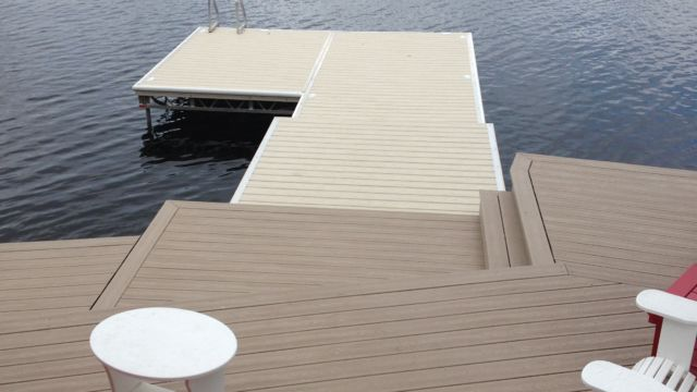 lift up step dock with custom shore section