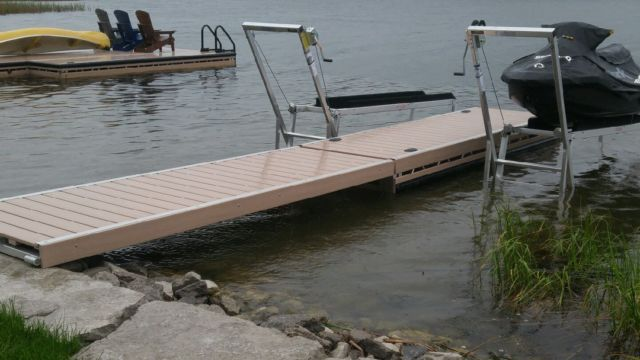 Ramp and Pipe Dock between PWC Lifts