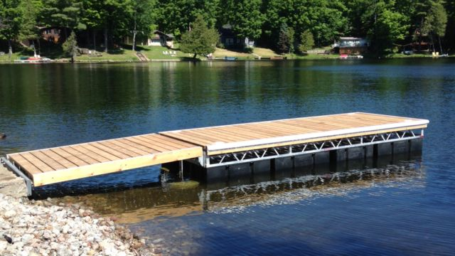 Floating Truss Dock with ramp
