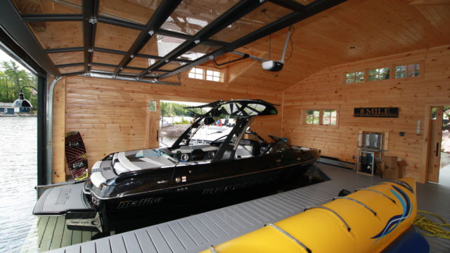Undermount lift for boat house by rj machine