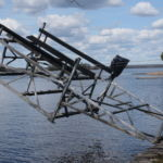 Cantilever Boat Lift with Cantilever Winter attachment