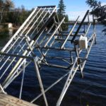 Electric Cantilever Boat Lift with Cantilever Winter attachment