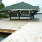 Juniper Island - Completed Steel work with decking