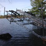 Two Lift Up Boat Lifts with centre Lift Dock section
