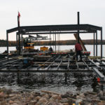 Steel Beam work for Boathouse