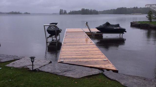 Lift Up Dock and PWC Lifts on a rainy day